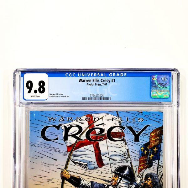 Warren Ellis Crecy #1 CGC 9.8 NM/M Front Label