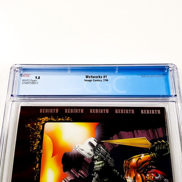 Wetworks #1 CGC 9.8 NM/M Back Label