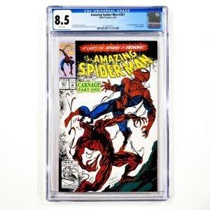 Amazing Spider-Man #361 CGC 8.5 VF+ Front