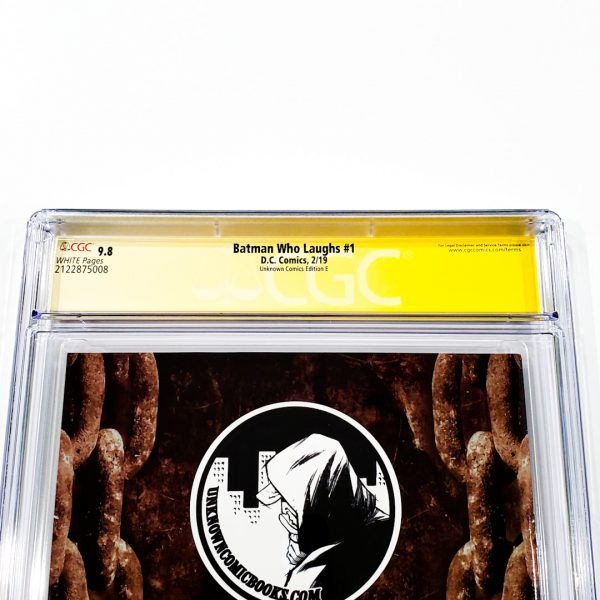 Batman Who Laughs #1 CGC SS 9.8 NM/M Unknown Comics Edition E Back Label