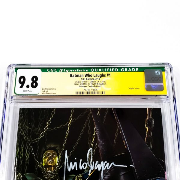 Batman Who Laughs #1 CGC SS 9.8 NM/M Unknown Comics Edition E Front Label