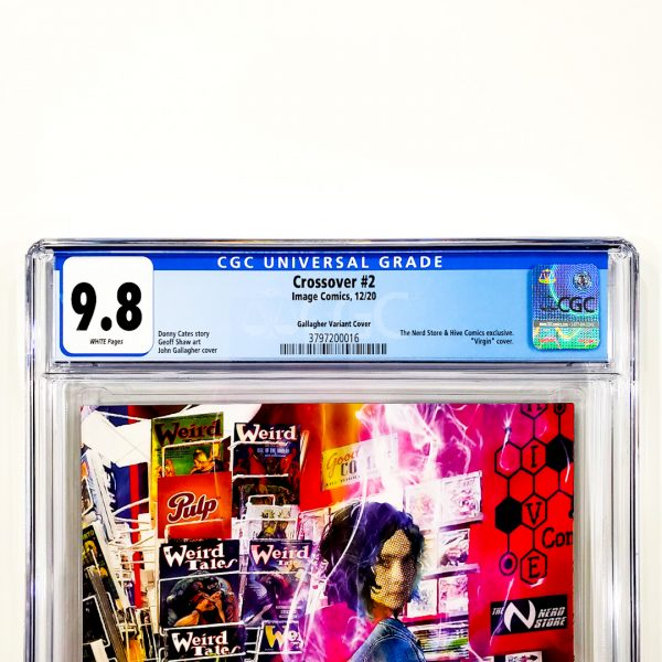 Crossover #2 CGC 9.8 NM/M Gallagher Variant Front Label