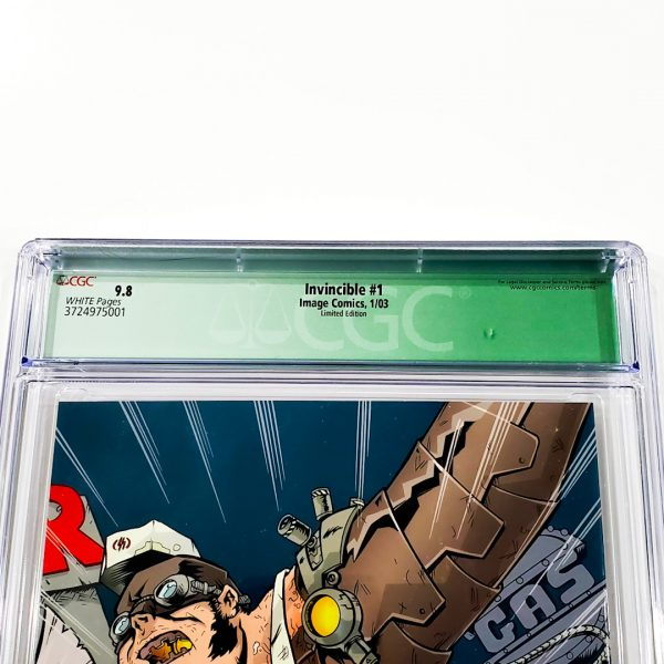 Invincible #1 CGC Q 9.8 NM/M Limited Edition Back Label