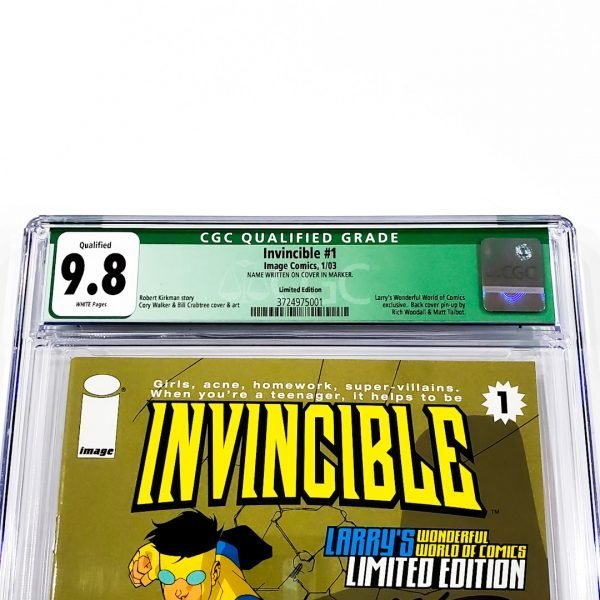 Invincible #1 CGC Q 9.8 NM/M Limited Edition Front Label