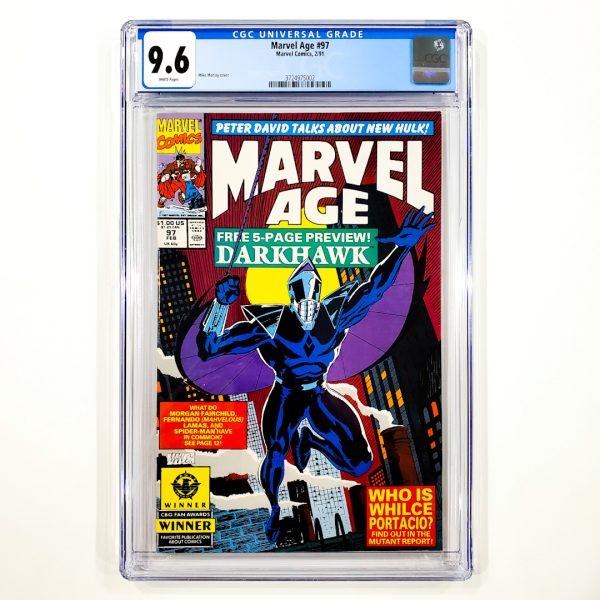 Marvel Age #97 CGC 9.6 NM+ Front