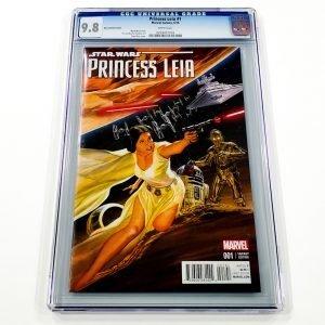 Princess Leia #1 CGC 9.8 NM/M Alex Ross Variant Front