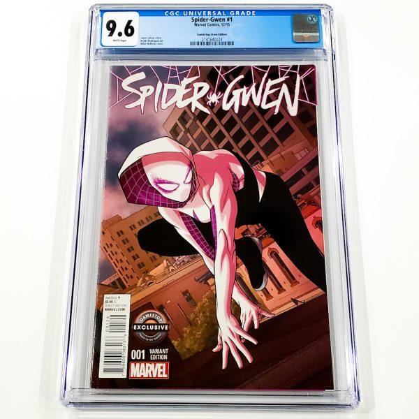 Spider-Gwen #1 CGC 9.6 NM+ GameStop Store Variant Front