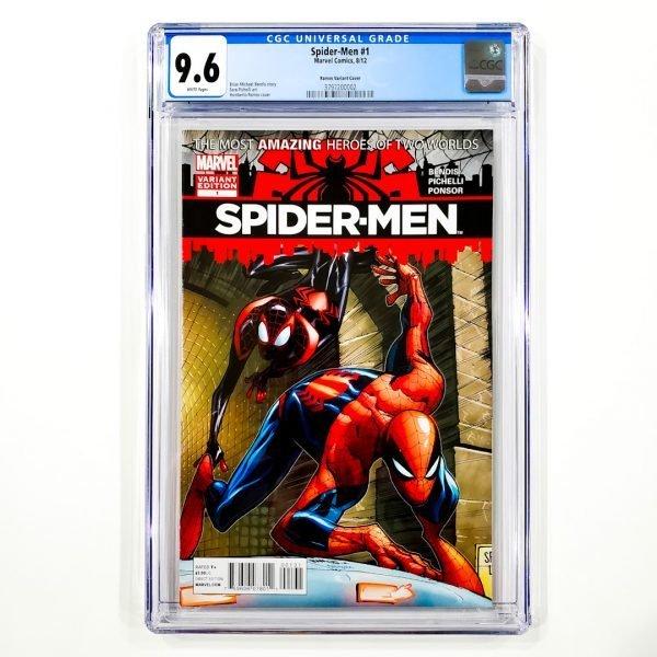 Spider-Men #1 CGC 9.6 NM+ Ramos Variant Front