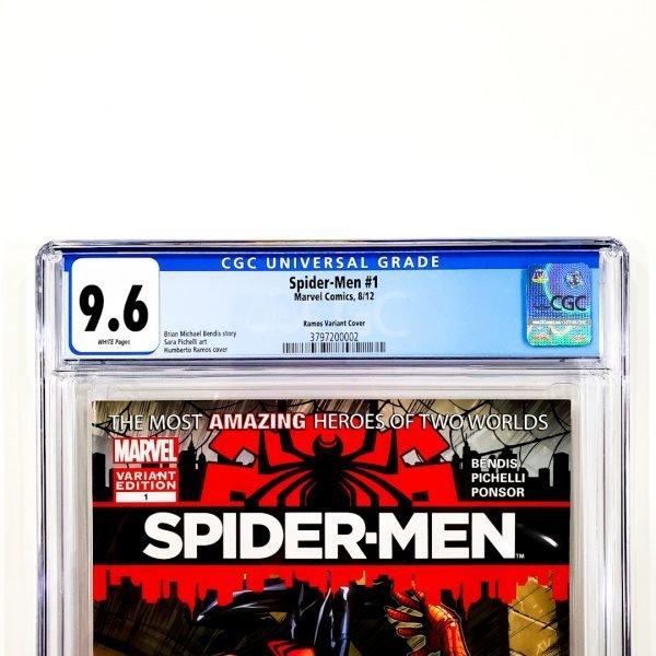 Spider-Men #1 CGC 9.6 NM+ Ramos Variant Front Label