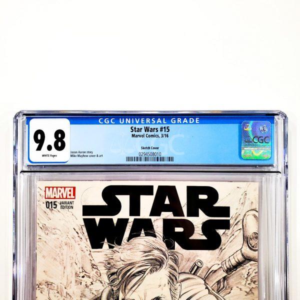 Star Wars (2015) #15 CGC 9.8 NM/M Mayhew Sketch Variant Front Label