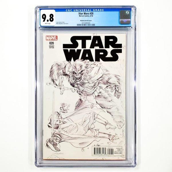 Star Wars (2015) #20 CGC 9.8 NM/M Mayhew Sketch Variant Front