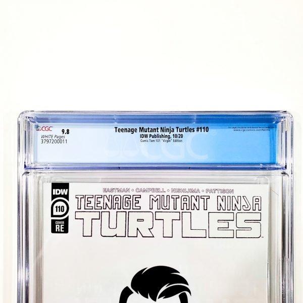 Teenage Mutant Ninja Turtles #110 CGC 9.8 NM/M ComicTom101 Virgin Variant Back Label