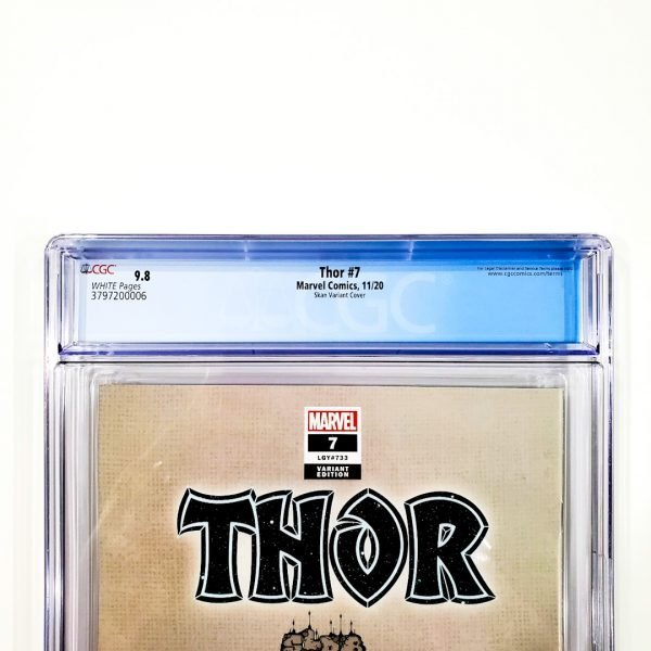 Thor (2020) #7 CGC 9.8 NM/M Skan Variant Back Label