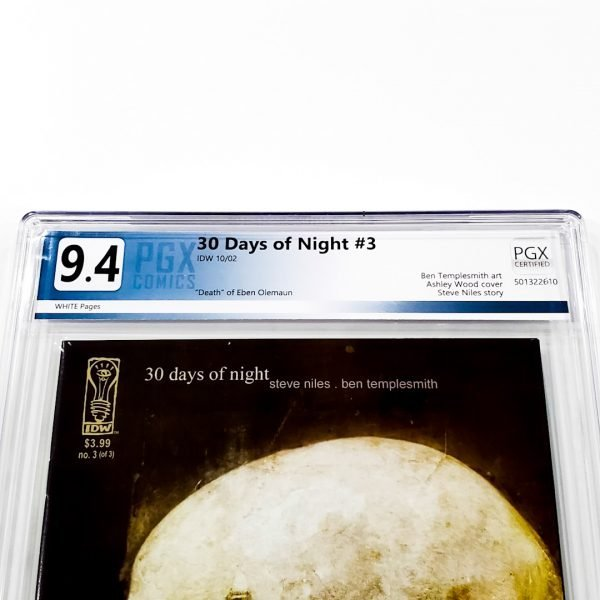 30 Days of Night #3 PGX 9.4 NM Front Label