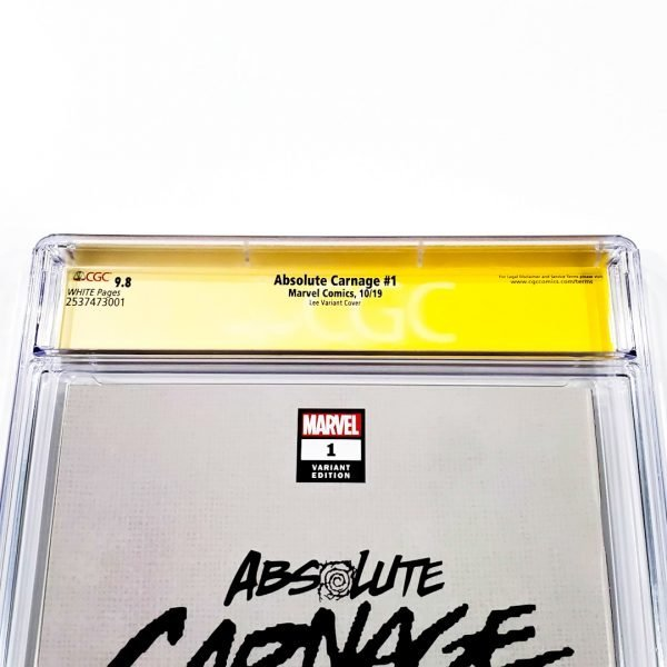 Absolute Carnage #1 CGC SS 9.8 NM/M Lee Variant Back Label