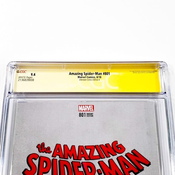 Amazing Spider-Man #801 CGC SS 9.4 NM Unknown Comics Variant A Back Label