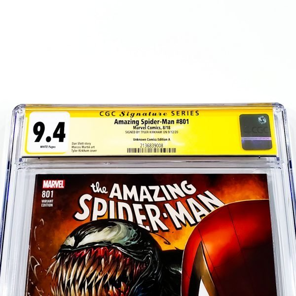 Amazing Spider-Man #801 CGC SS 9.4 NM Unknown Comics Variant A Front Label