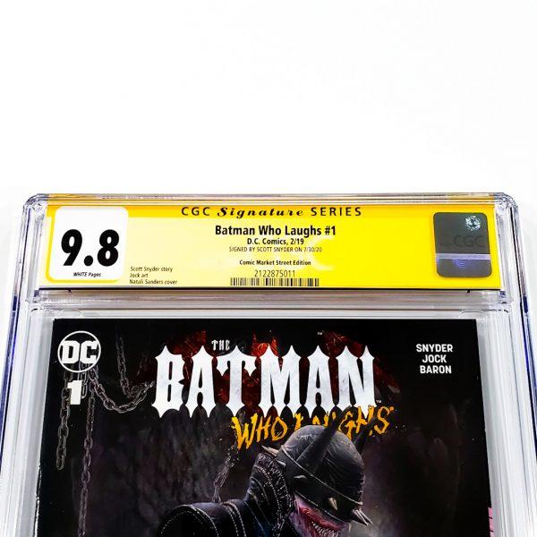 Batman Who Laughs #1 CGC SS 9.8 NM/M Comic Market Street Edition Front Label