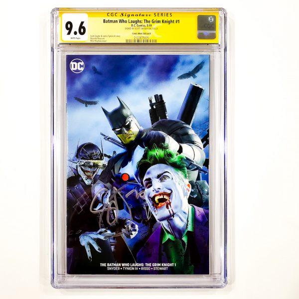 Batman Who Laughs: The Grim Knight #1 CGC SS 9.6 NM+ Comic Mint Variant B Front
