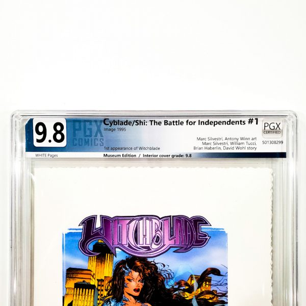 Cyblade/Shi: The Battle for Independents #1 PGX 9.8 NM/M Museum Edition Front Label