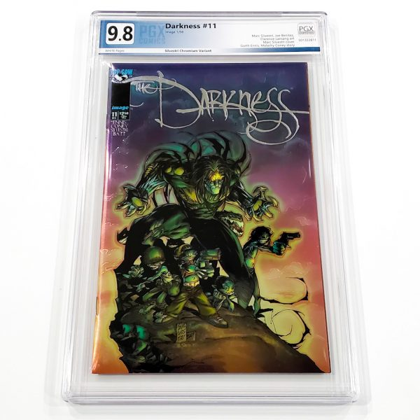 The Darkness #11 PGX 9.8 NM/M Silvestri Chromium Variant Front