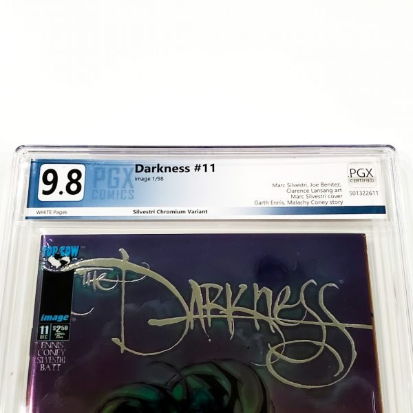 The Darkness #11 PGX 9.8 NM/M Silvestri Chromium Variant Front Label