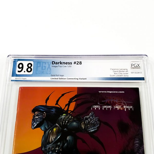 The Darkness #28 PGX 9.8 NM/M Gold Foil Edition Front Label