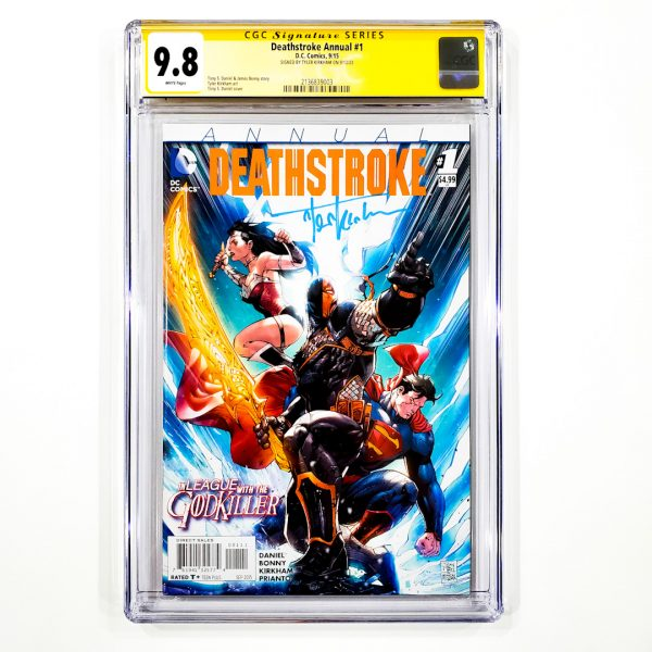 Deathstroke Annual #1 CGC SS 9.8 NM/M Front