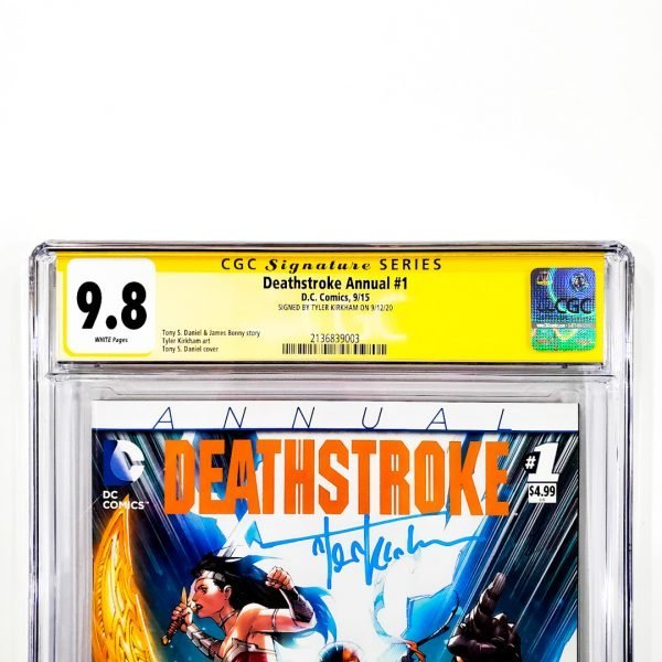 Deathstroke Annual #1 CGC SS 9.8 NM/M Front Label