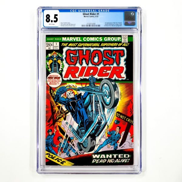 Ghost Rider #1 CGC 8.5 VF+ Front