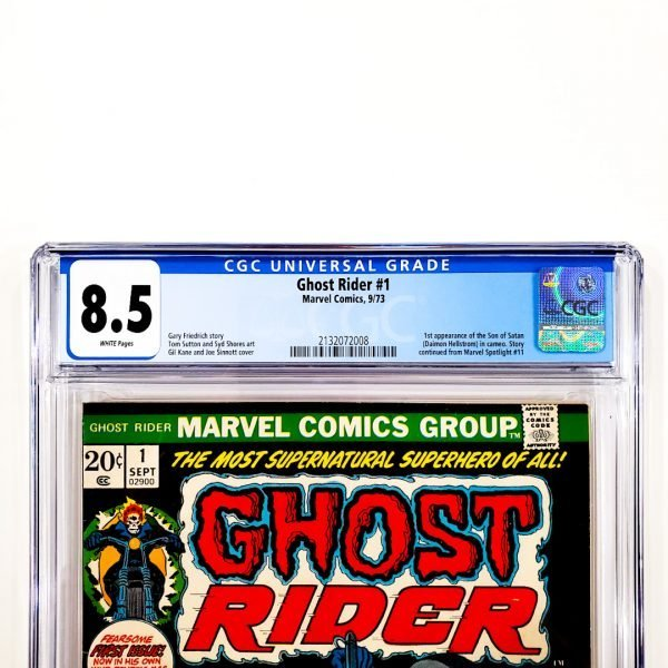 Ghost Rider #1 CGC 8.5 VF+ Front Label
