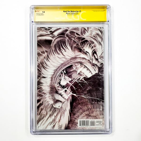 Hunt for Wolverine #1 CGC SS 9.8 NM/M Remastered Sketch Variant Back