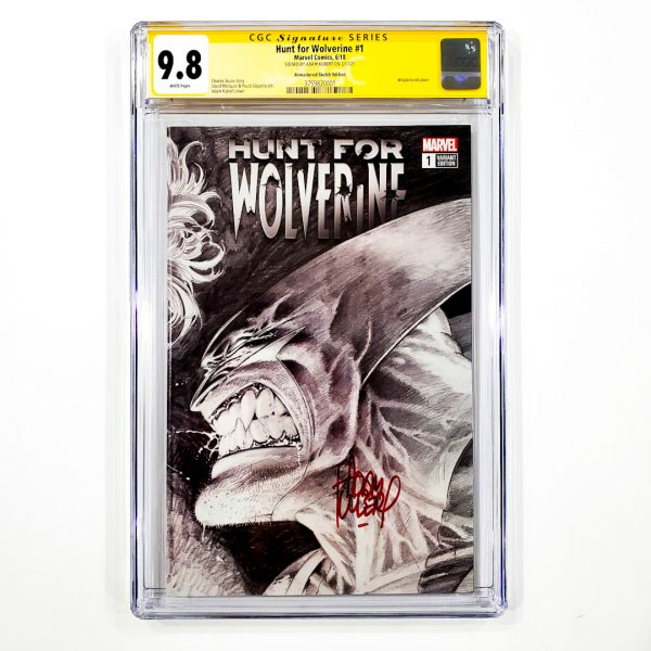 Hunt for Wolverine #1 CGC SS 9.8 NM/M Remastered Sketch Variant Front