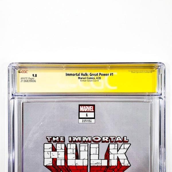 Immortal Hulk: Great Power #1 CGC SS 9.8 NM/M Kirkham Variant B Back Label
