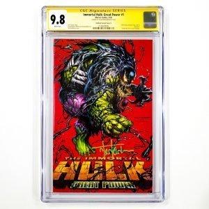 Immortal Hulk: Great Power #1 CGC SS 9.8 NM/M Kirkham Variant B Front