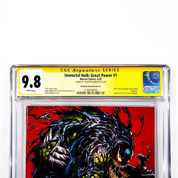 Immortal Hulk: Great Power #1 CGC SS 9.8 NM/M Kirkham Variant B Front Label