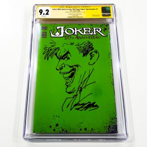 Joker 80th Anniversary 100-Page Super Spectacular #1 CGC SS 9.2 NM- Scorpion Comics Sketch Variant Front