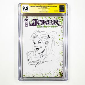 Joker 80th Anniversary 100-Page Super Spectacular #1 CGC SS 9.8 NM/M Sketch Variant Front