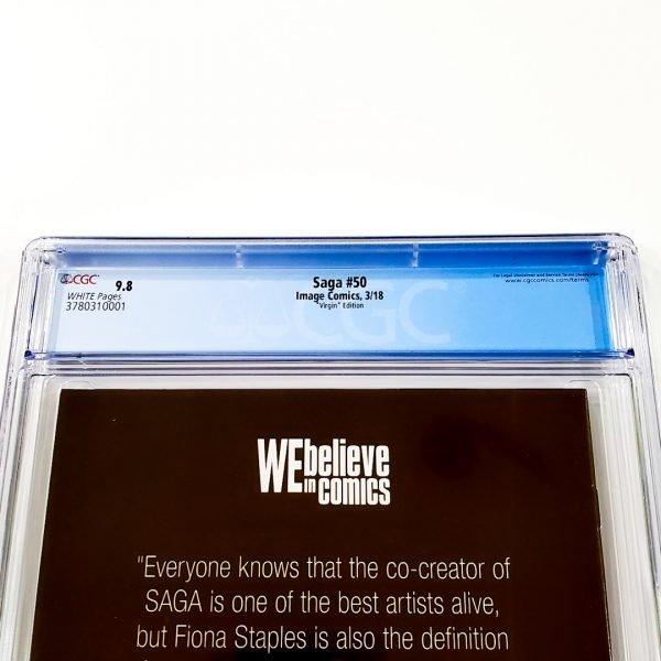 Saga #50 CGC 9.8 NM/M Virgin Variant Back Label