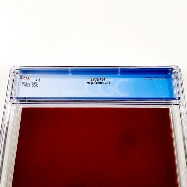 Saga #54 CGC 9.8 NM/M Back Label
