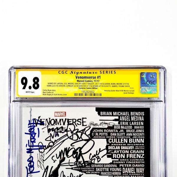 Venomverse #1 CGC SS 9.8 NM/M Scorpion Comics Variant Front Label