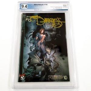 Witchblade #10 PGX 9.4 NM Darkness #0 Gold Foil Variant Front