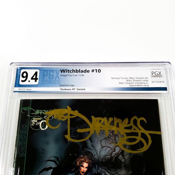 Witchblade #10 PGX 9.4 NM Darkness #0 Gold Foil Variant Front Label