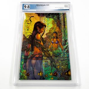 Witchblade #25 PGX 9.8 NM/M Speckle Holofoil Variant Front