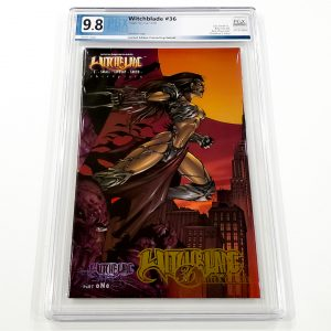 Witchblade #36 PGX 9.8 NM/M Gold Foil Edition Front