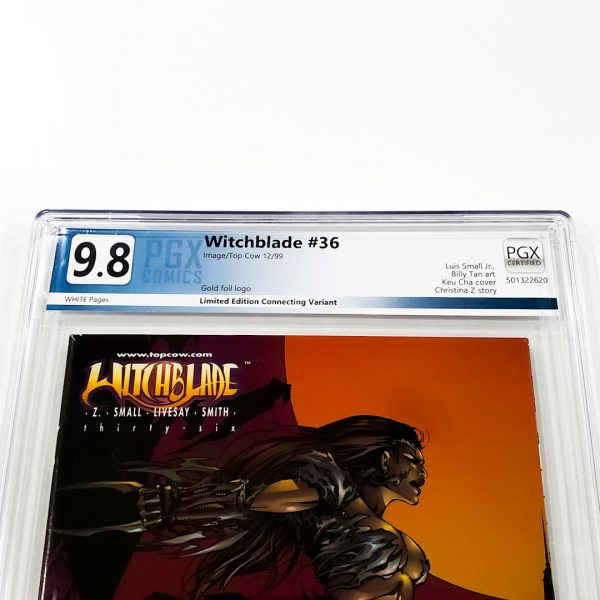 Witchblade #36 PGX 9.8 NM/M Gold Foil Edition Front Label