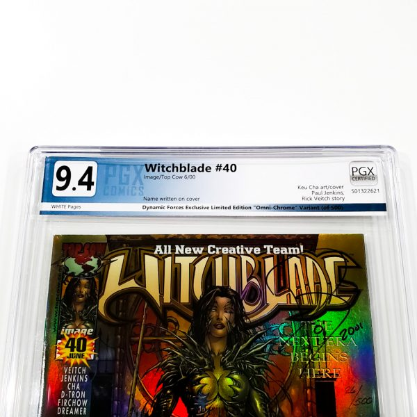 Witchblade #40 PGX 9.4 NM Dynamic Forces Edition Front Label