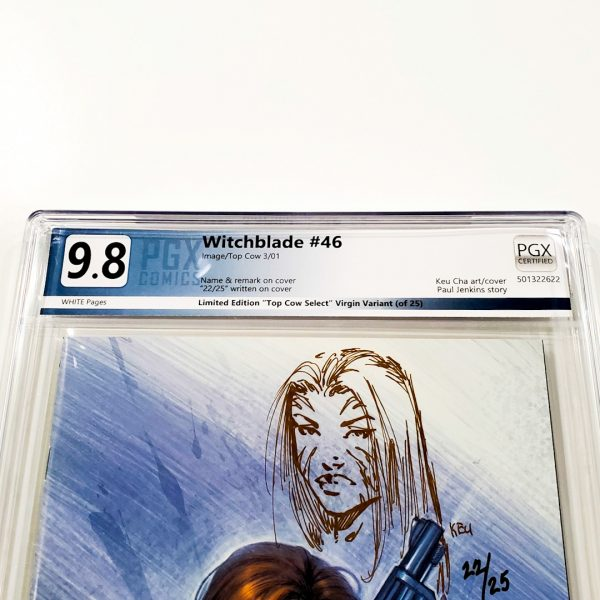 Witchblade #46 PGX 9.8 NM/M Top Cow Select Virgin Variant Front Label