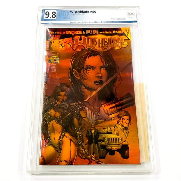 Witchblade #50 PGX 9.8 NM/M Dynamic Forces Holofoil Edition Front