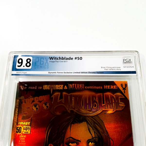 Witchblade #50 PGX 9.8 NM/M Dynamic Forces Holofoil Edition Front Label